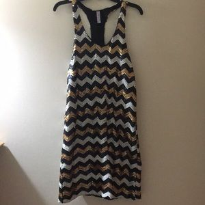 Francesca's sequin straight racerback dress
